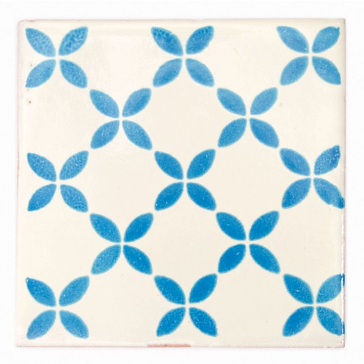 herendira turquoise hand made mexican wall tiles