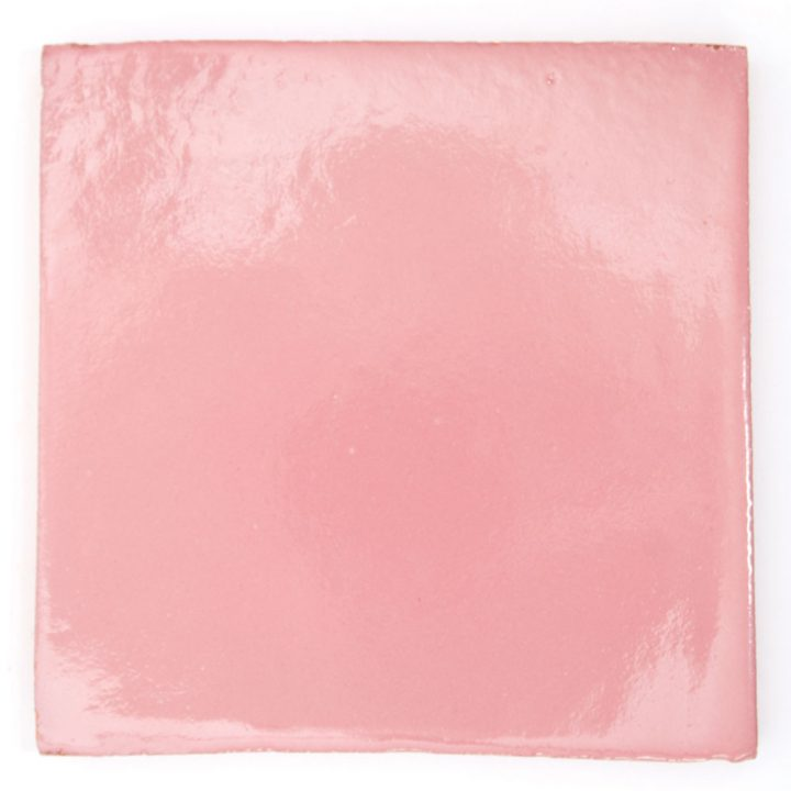 pink hand made mexican wall tile.