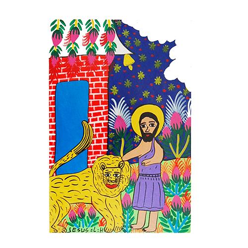 lion and apostle by Jesus Lorenzo
