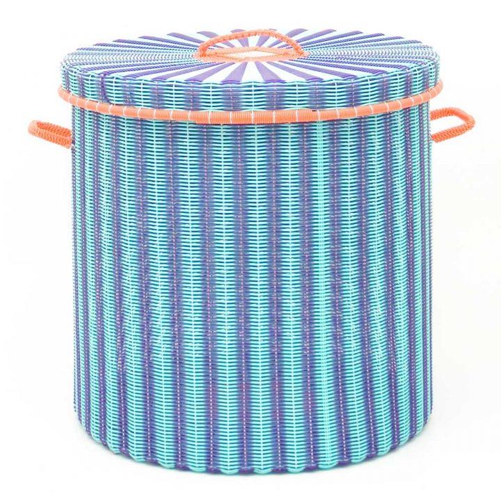 aubergine and pistachio storage basket