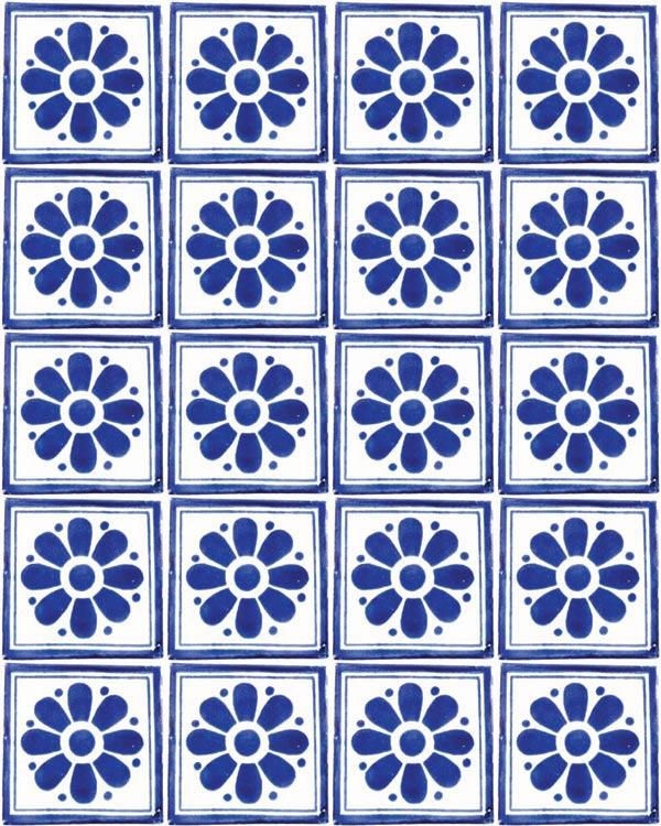 daisy may blue tiles