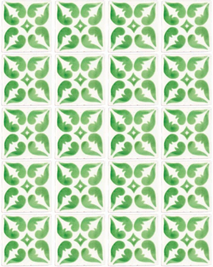 Lyon green hand made wall tiles.
