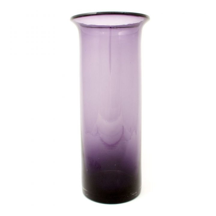 hand made mexican grape clear vase with lip