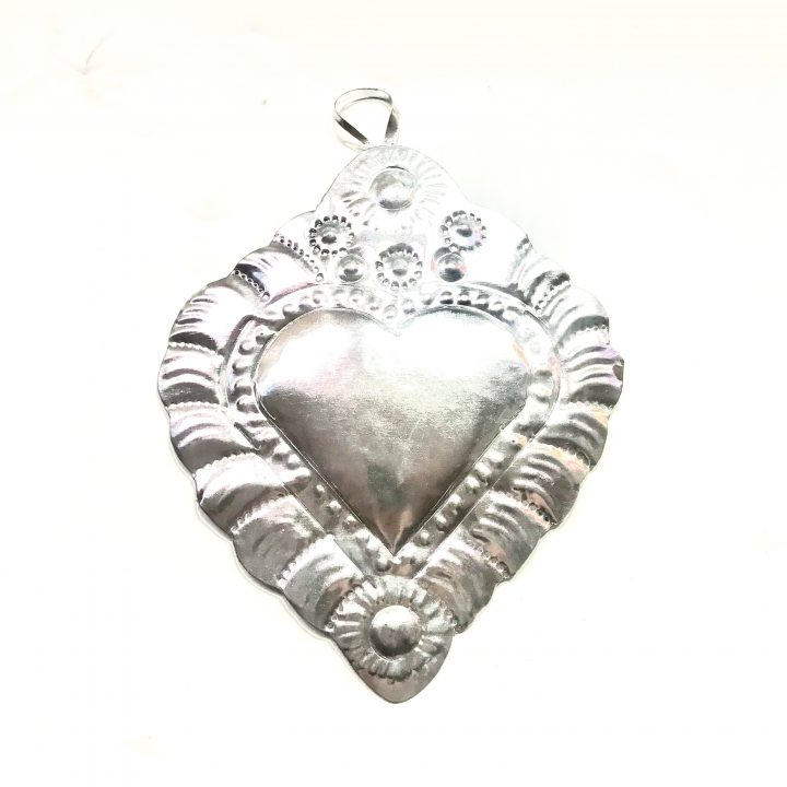 Tin heart for tenth wedding anniversary