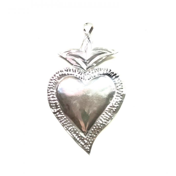Tin heart hand made in Mexico