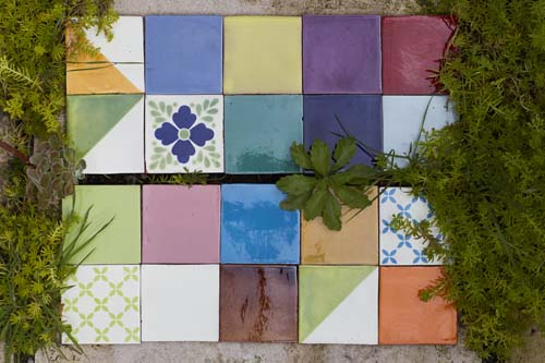 Decorative hand made wall tiles