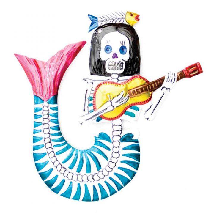 tin mermaid hand made in Mexico