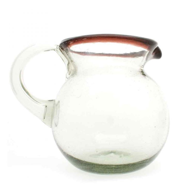 clear with a purple rim jug.