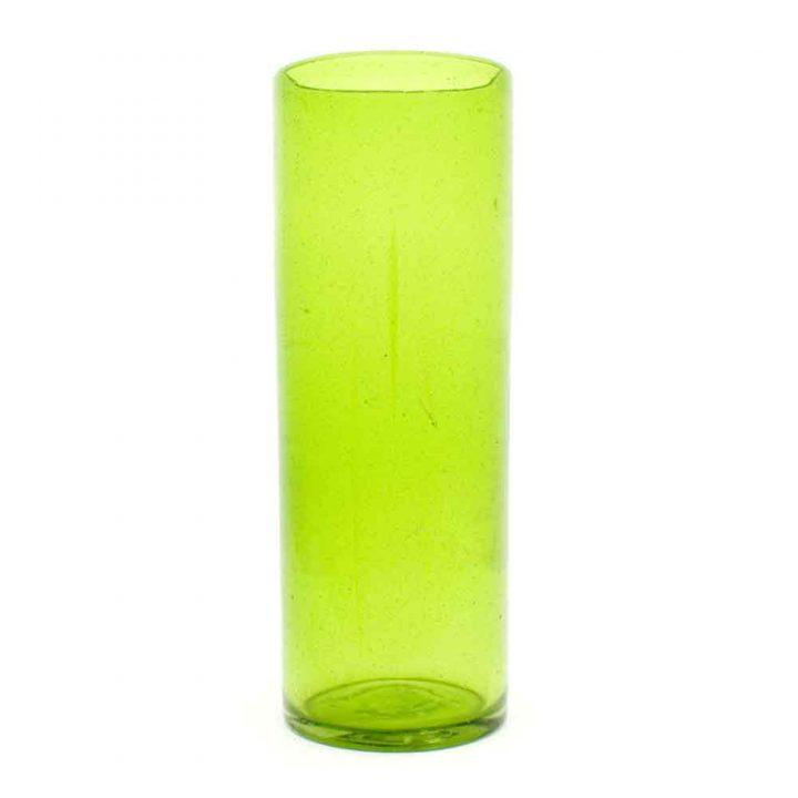 lime green straight recycled glass 25 x 8cm