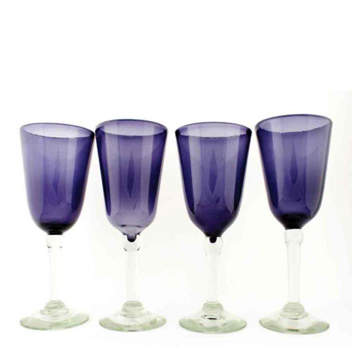grape bell shaped wine glasses