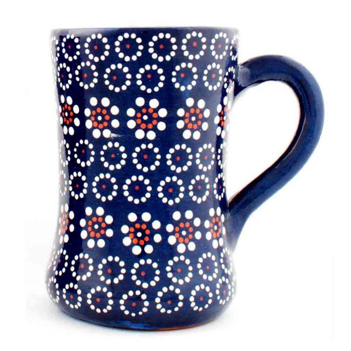 Capula pottery blue mug