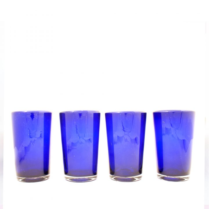 Milky blue tumbler hand made in Mexico