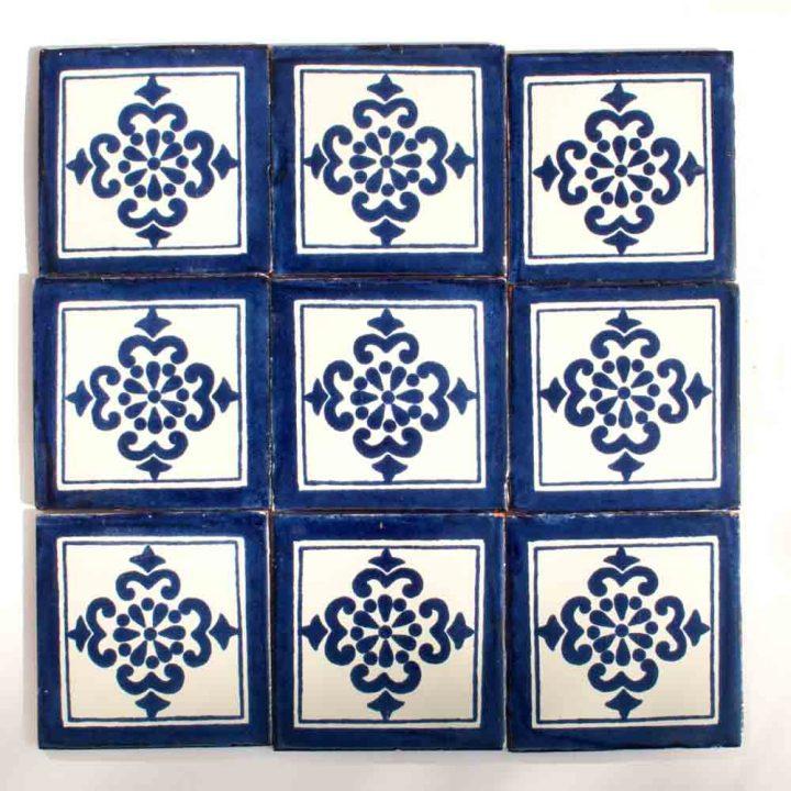 Anita blue hand made wall tiles
