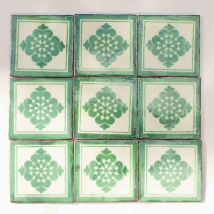 Anita green hand made tiles
