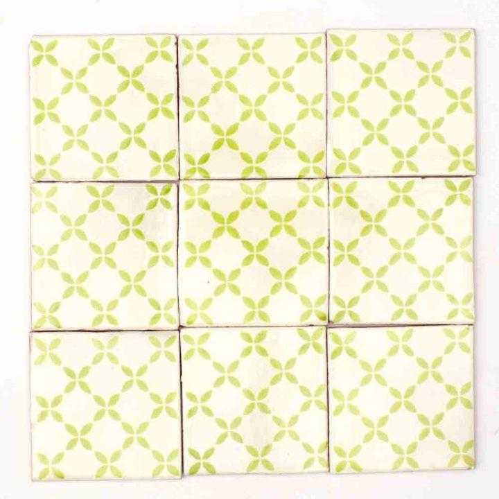 Herendira green hand made tiles