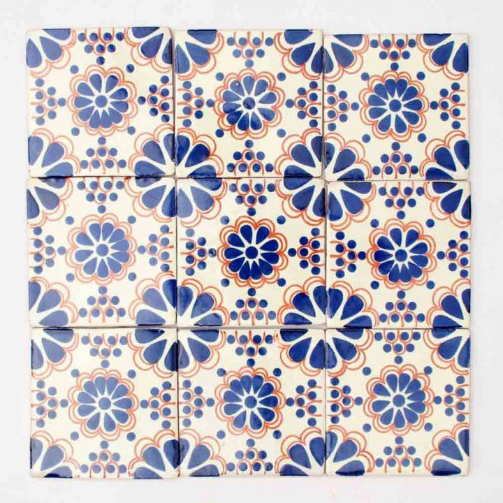 Hand made wall tiles