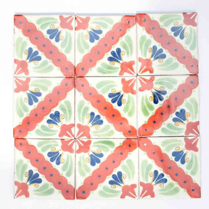 Hand made Mexican tiles.