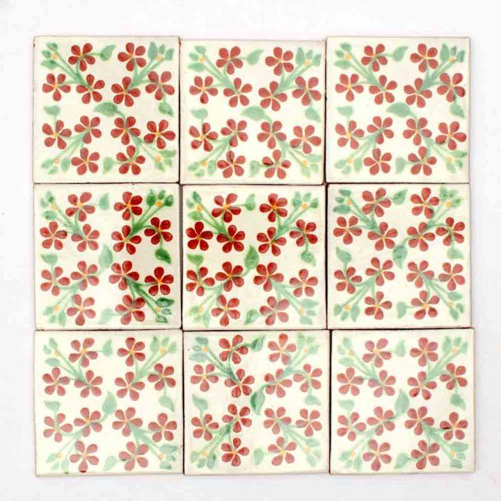 Violets hand made tiles