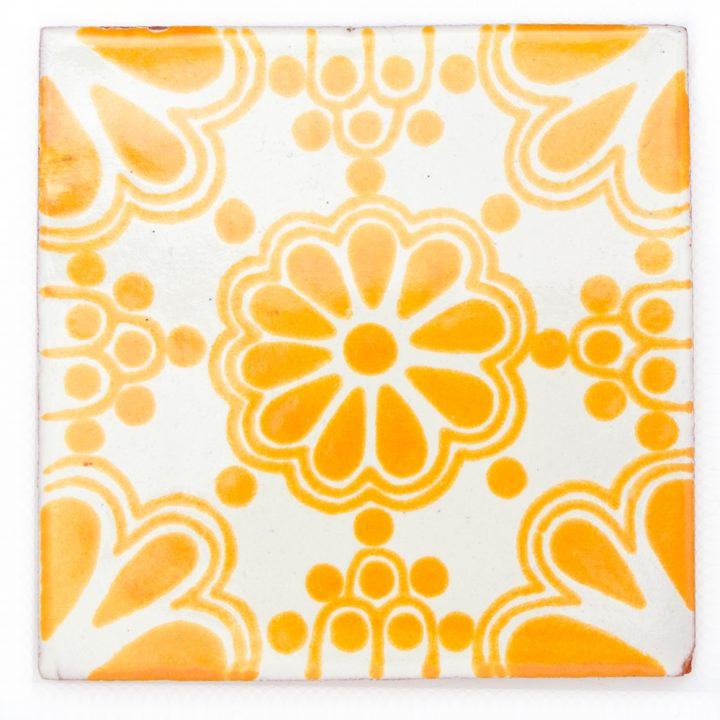 yellow lace tile