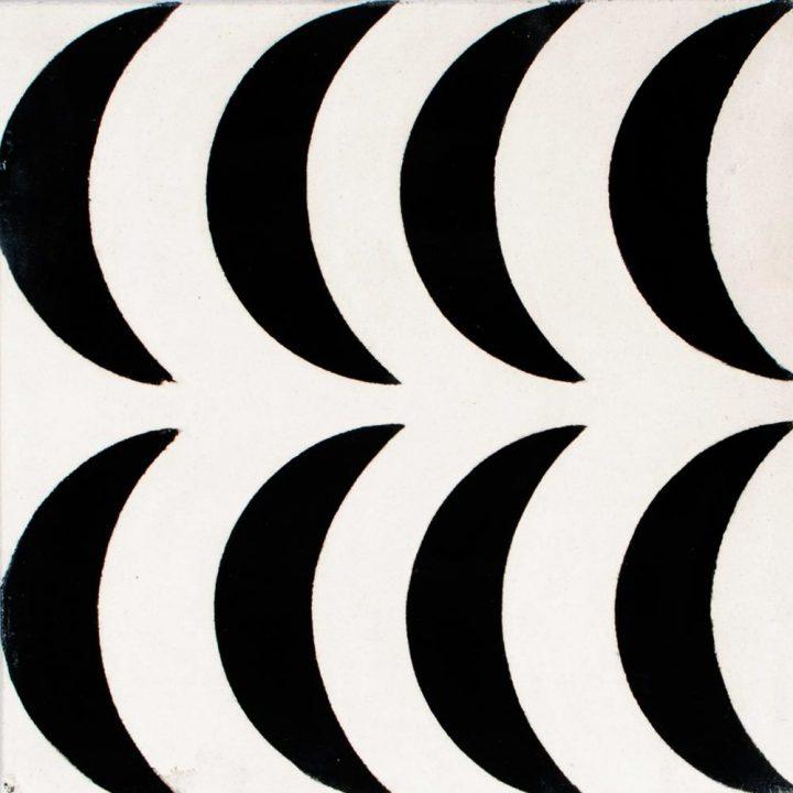 crescent moon encaustic tile