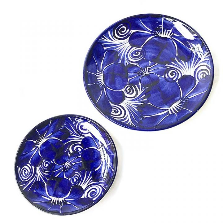 Dolores blue flower plate