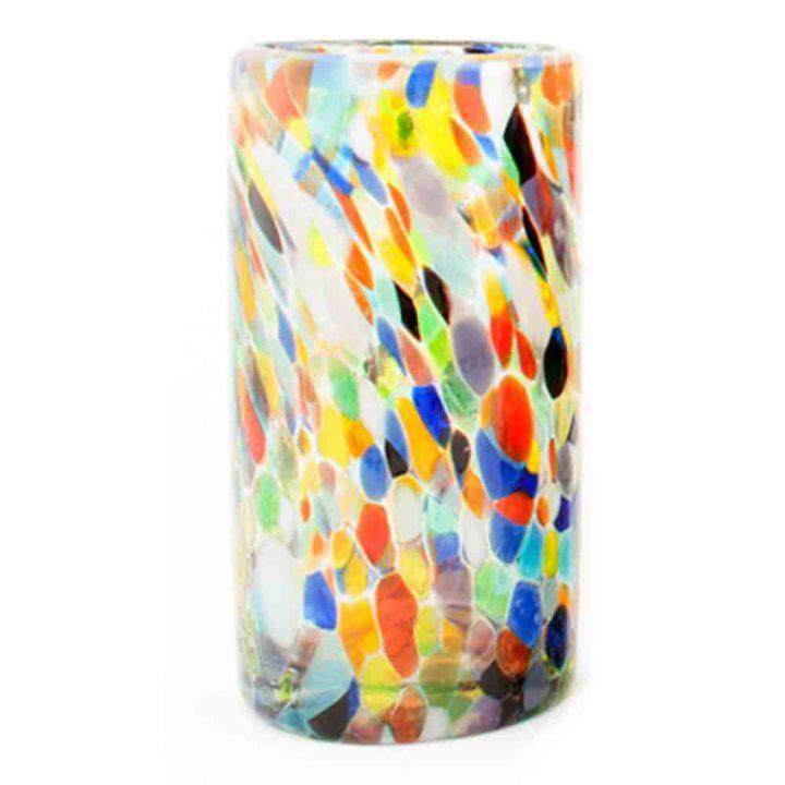 confetti glass tumblers