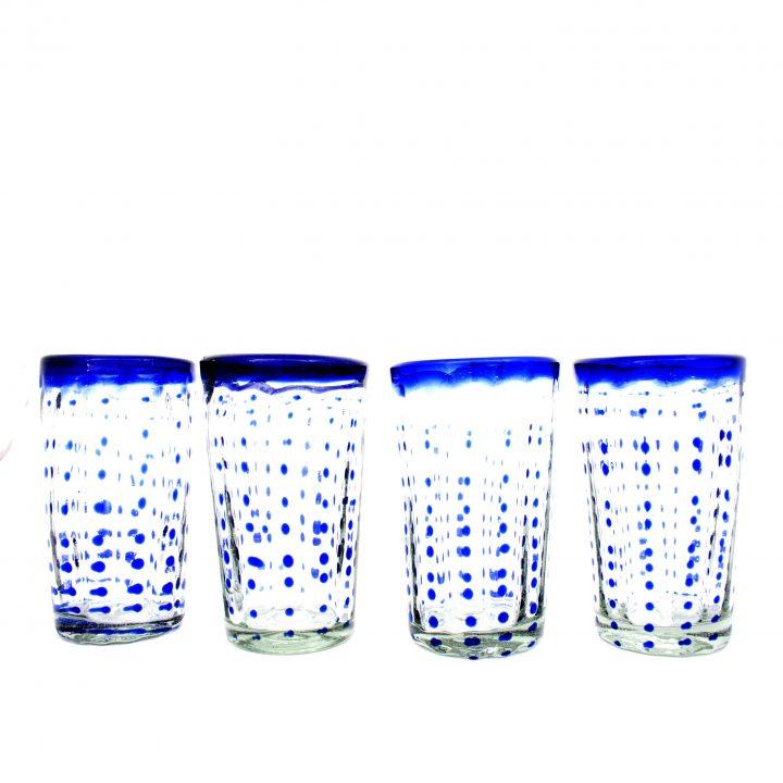 confetti blue Mexican tumblers