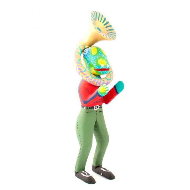 frog with sousaphone