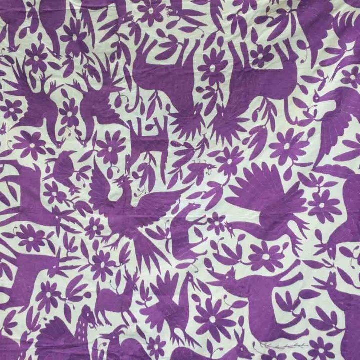 Purple Otomi embroidery