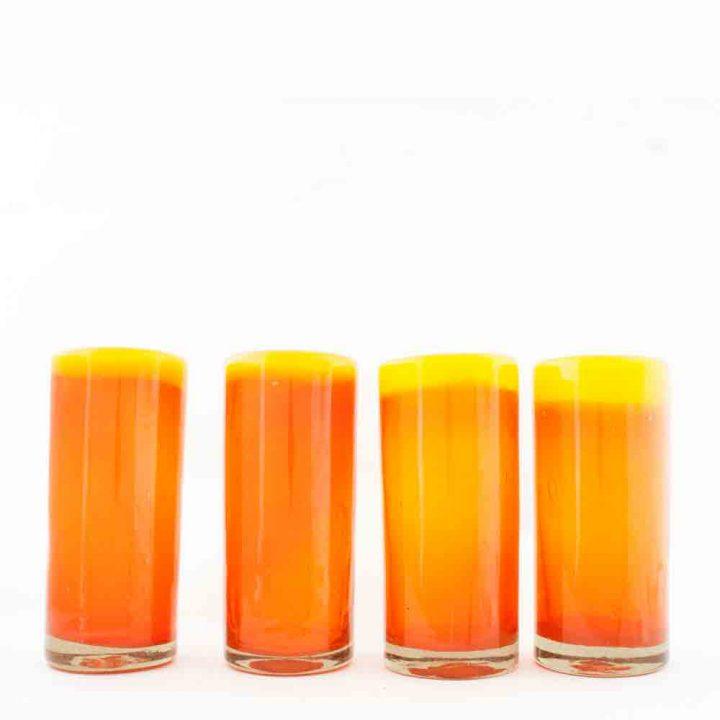 orange and yellow highballs