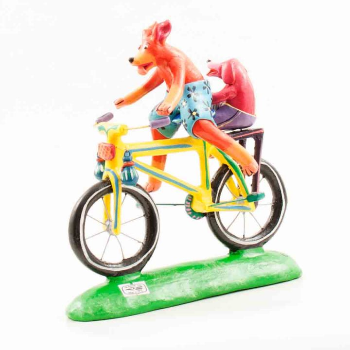 dog on bicycle Ortega family