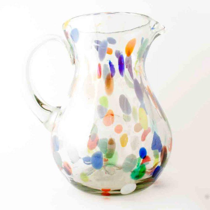 confetti pear shaped jug