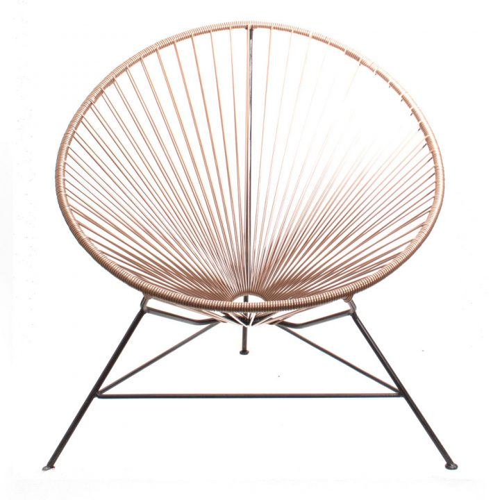 Gold acapulco chair