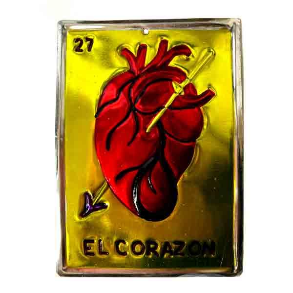 El corazón Mexican lotteria