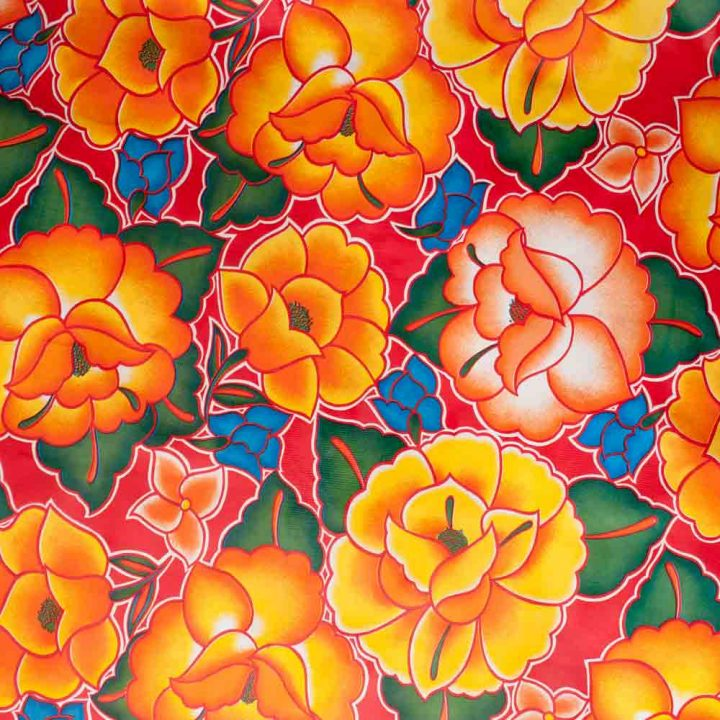 Mexican rose oil cloth