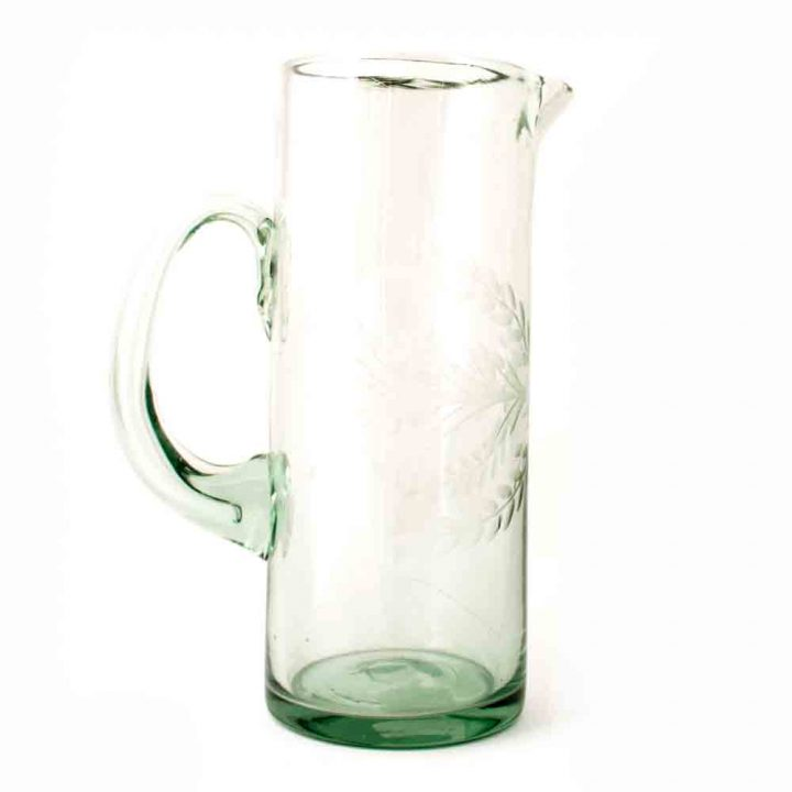 clear engraved straight jug