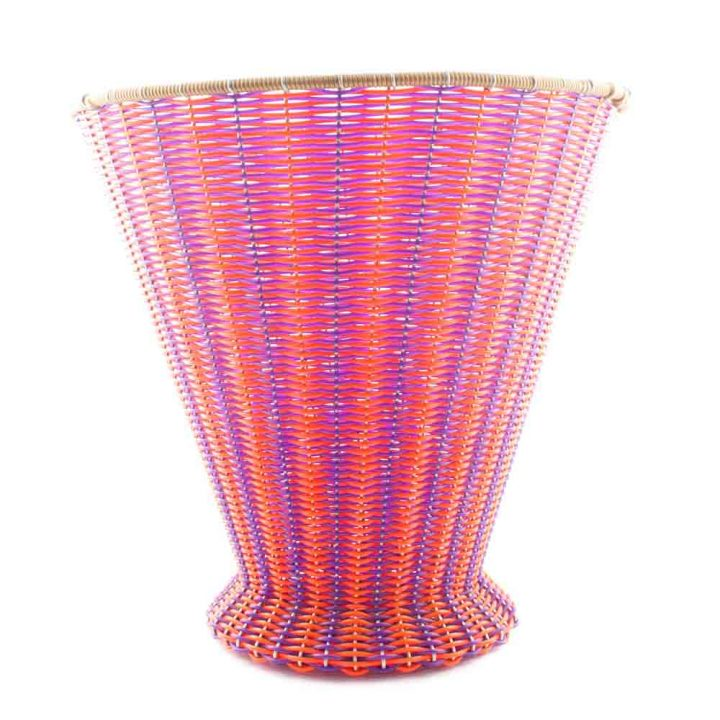 orange purple paper basket