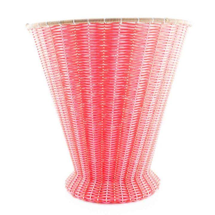 pink and red ironing basket