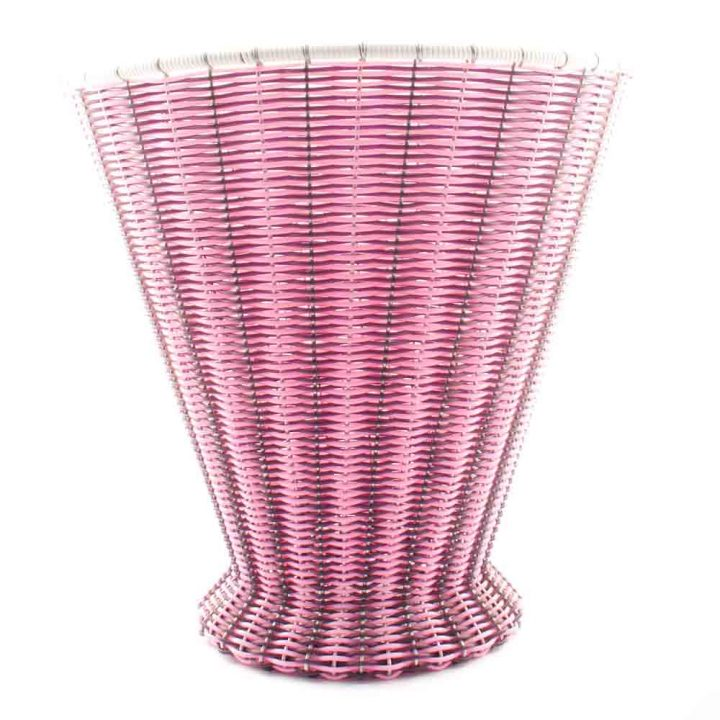 pink and aubergie paper basket