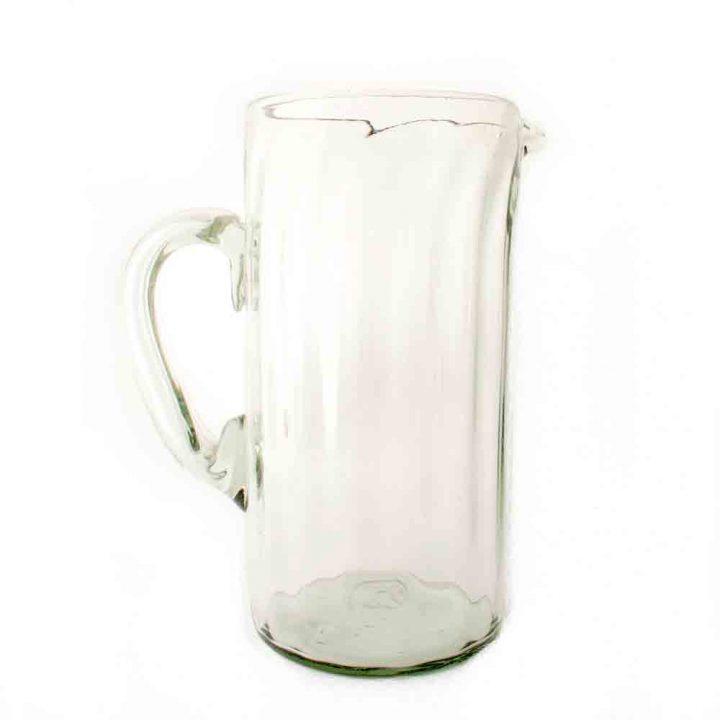 clear straight ribbed jug