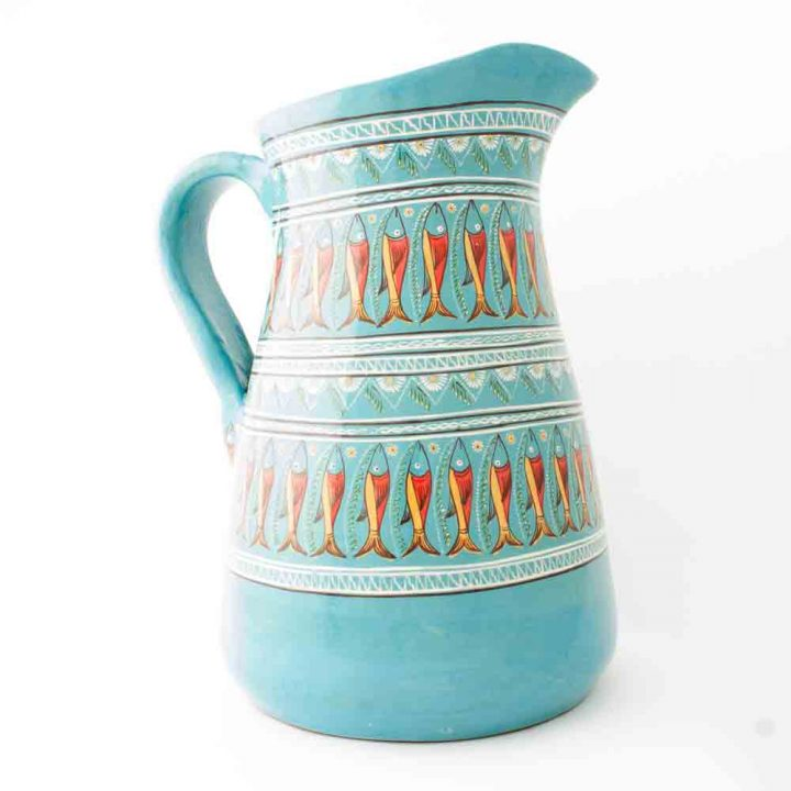 Turquoise fish jug