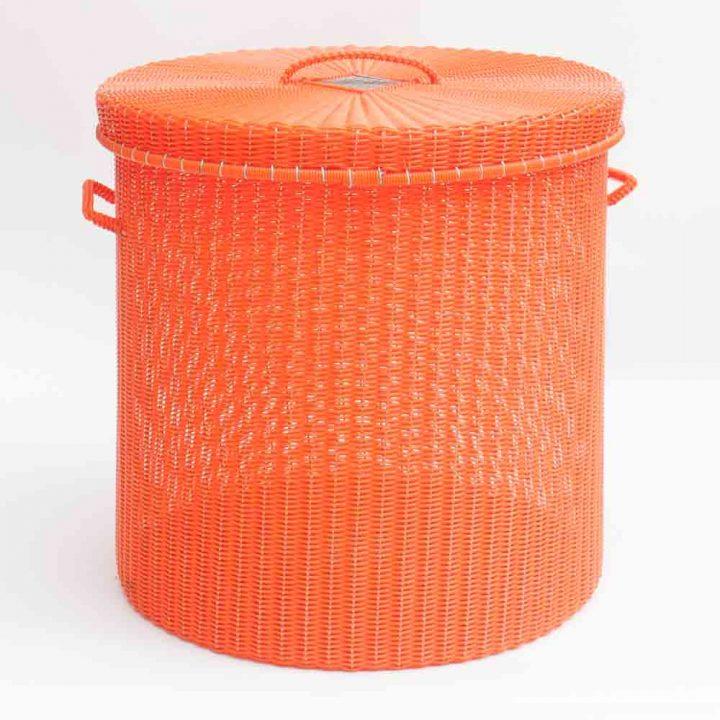 orange storage basket