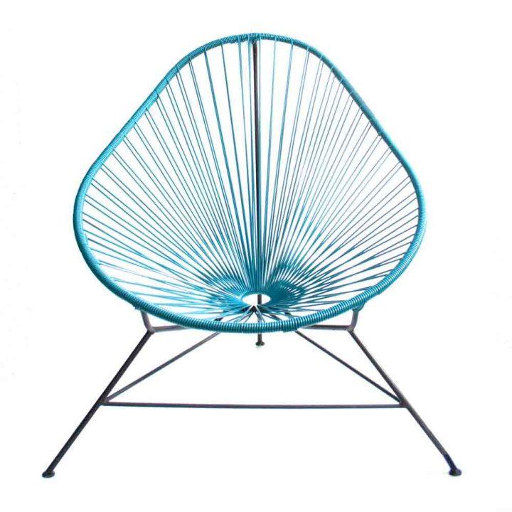 petrol blue acapulco chair Mexican furniture