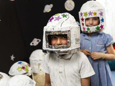 Randal Cremer_children dressed as spacemen portrait