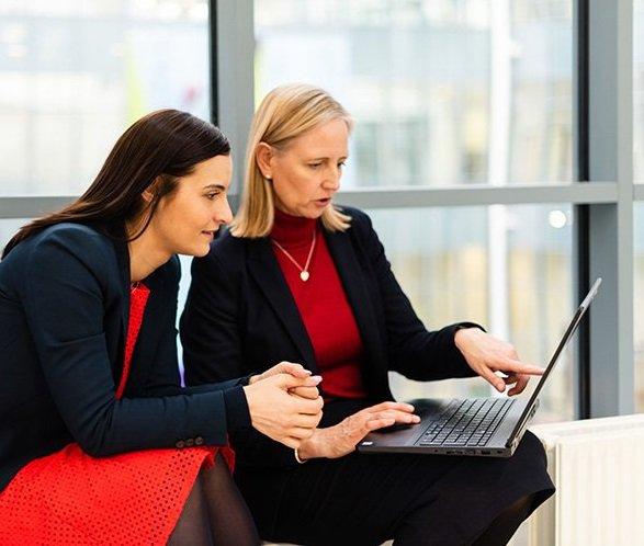 Teachers at laptop